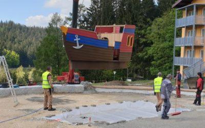 Playmobil-Aktivschiff geht in Lambach vor Anker